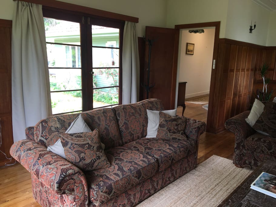 French doors open off lounge room to peaceful patio