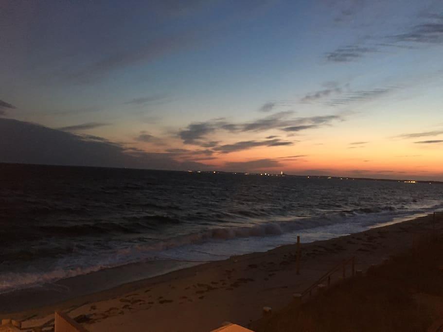 Beautiful sunset overlooking Provincetown