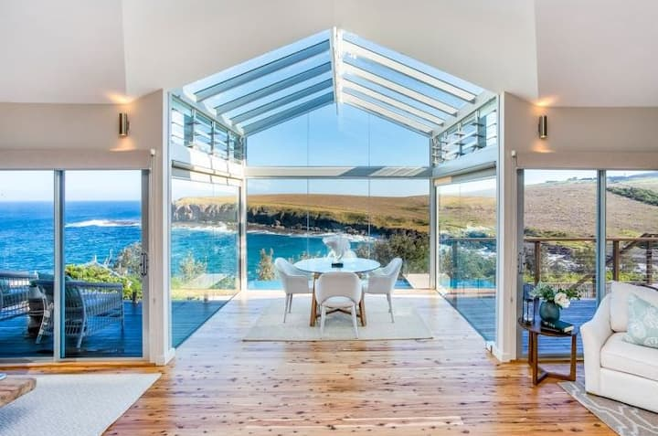 Stunning views from  Cove House in Kiama Heights
