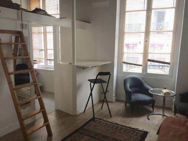 Studio apartment in the very heart of Paris