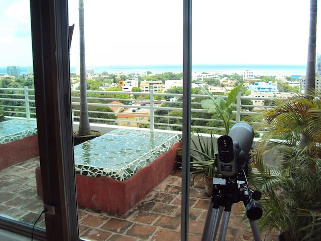 Ocean view Beach House down town huge terrace - Santo Domingo