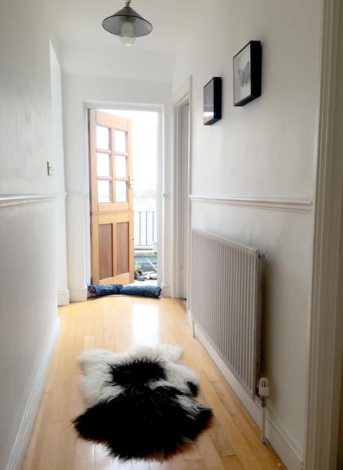 Hallway to outside space