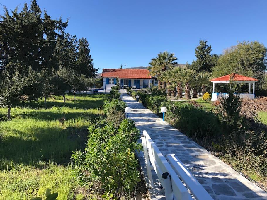 Villa, Pavillion und 4.000 qm Garten direkt am Strand