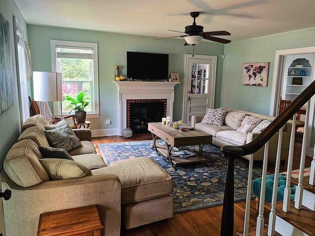 ❤️Private cute home w/fenced yard near downtown❤️
