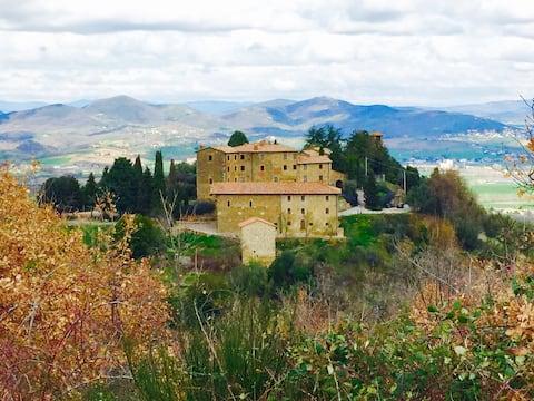 Italiensk umbrisk hjem i et slott