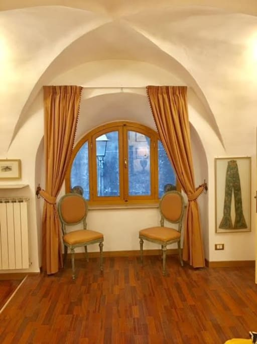 la finestra sulla Cappella bizantina