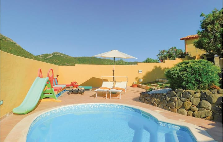 Awesome apartment in Gonnesa with WiFi, Outdoor swimming pool and 1 Bedrooms