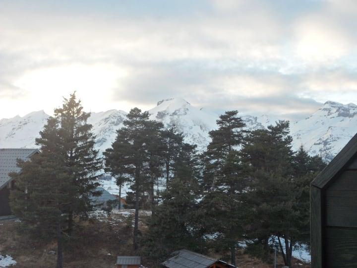 appartement T2 dans chalet au coeur de la montagne