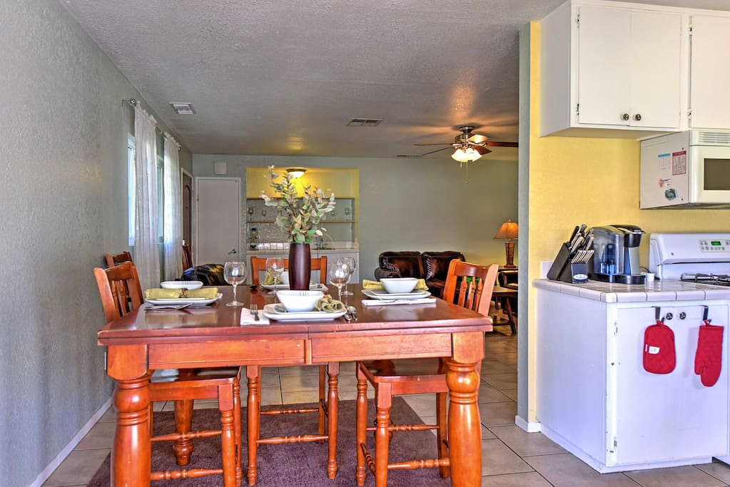Pull up a chair and enjoy a home cooked meal around the breakfast table.