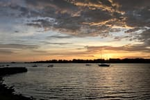 October sunset at Warren town beach. A ten minute walk south on Water Street.