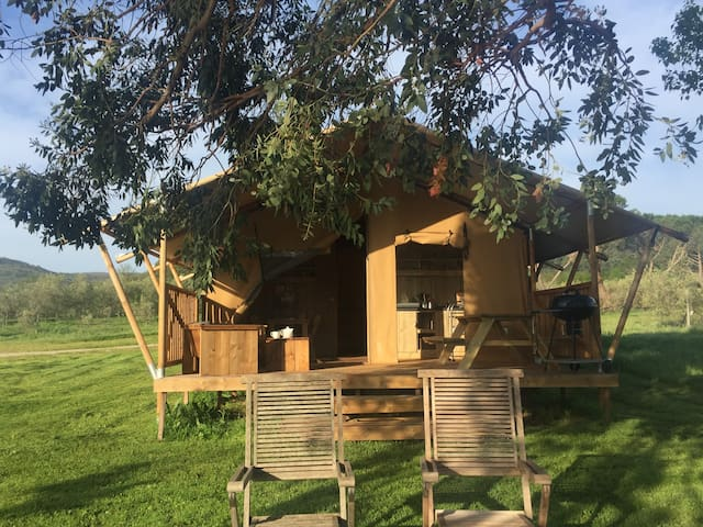 Gîte insolite : Tente Lodge - Lac du Salagou