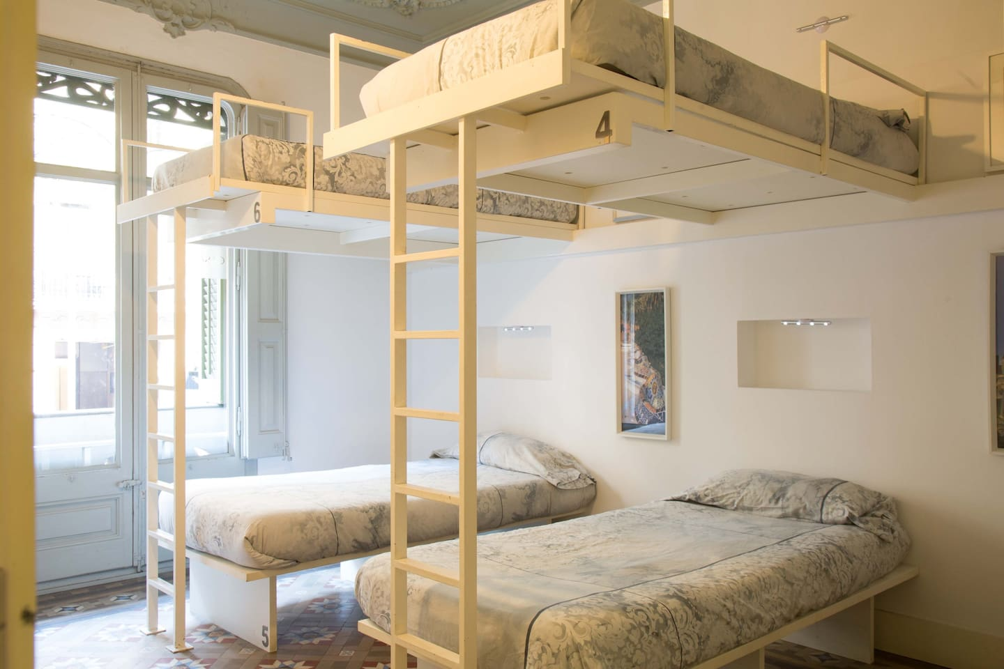 6-bed Female Dormitory room