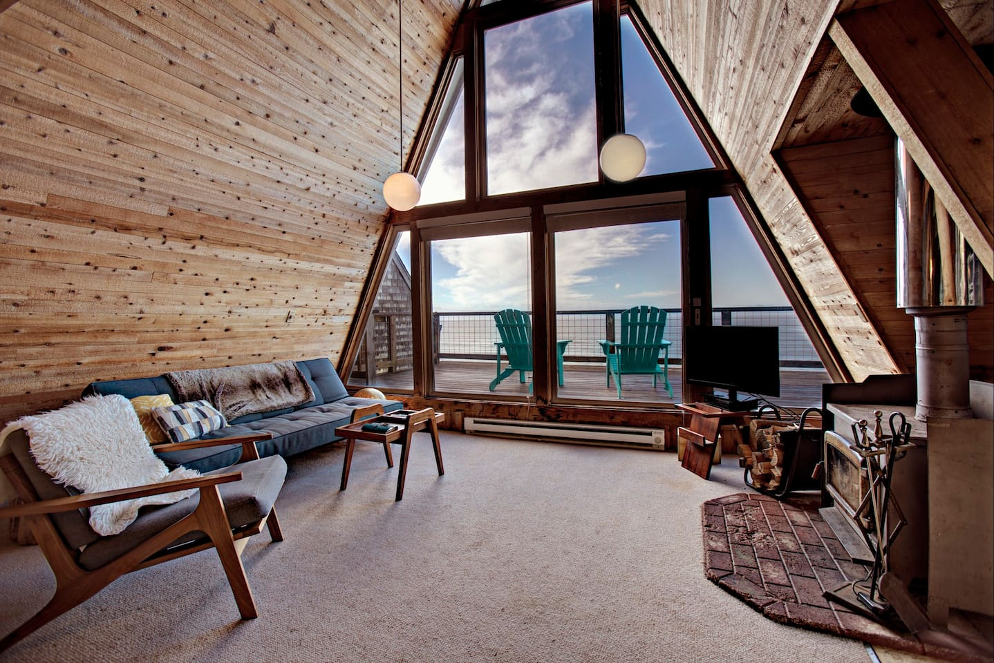 Oceanside Oregon A-Frame Airbnb