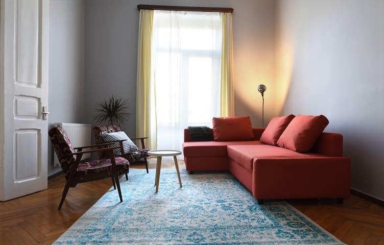 Beautifully restored apartment on Rustaveli Ave