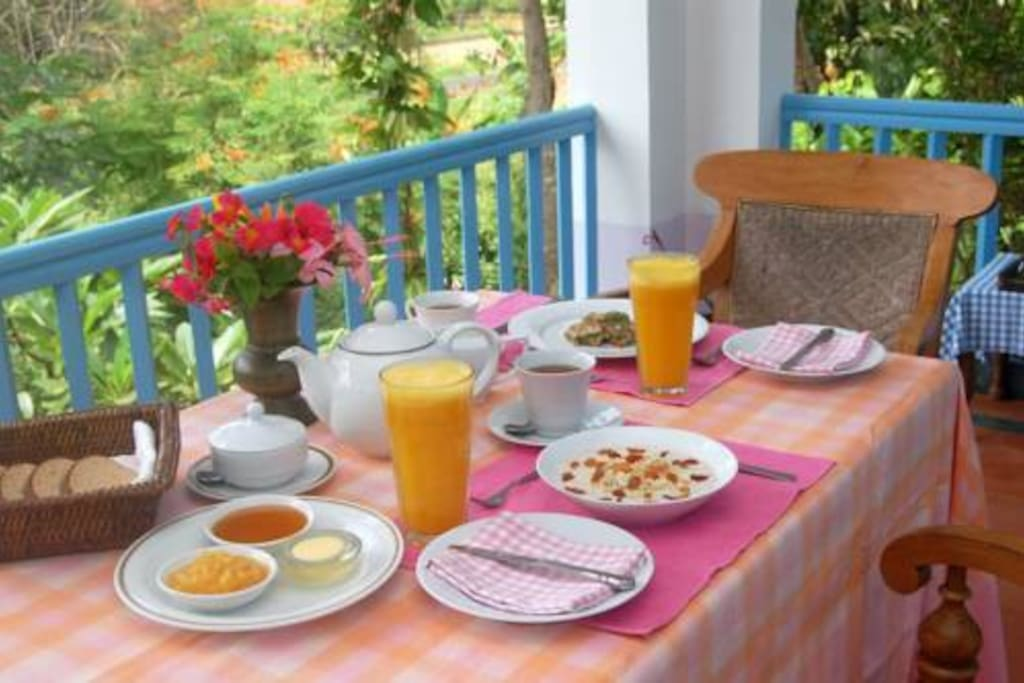 made to order breakfast served on your veranda