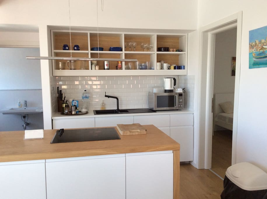 this is the newly installed Kitchen