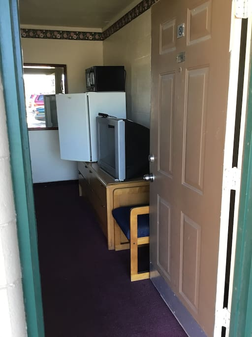 Rooms come with a TV with cable, microwave, and fridge. We also have free WiFi.