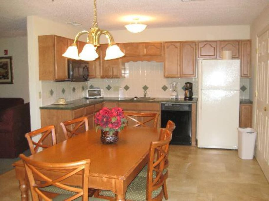 You might get a partial kitchen unit that has everything except the full sized oven. It has a portable oven only.