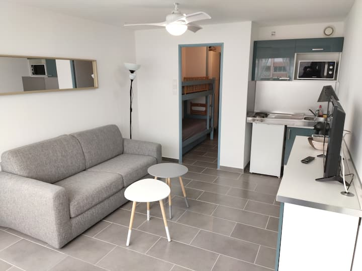 Joli studio cabine plage, piscine, parking Palavas