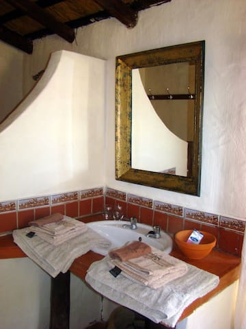 Eland bathroom, with shower and wc.