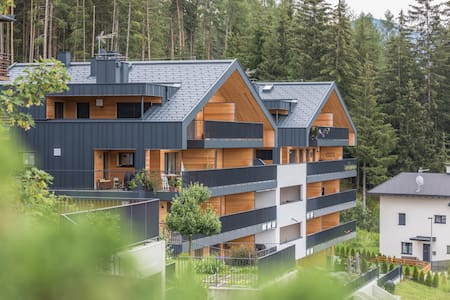 """Holiday Apartment """"Kronplatz Blick"""" with Mountain View of the Dolomites, Wi-Fi, Balcony & Terrace; Parking Available"""