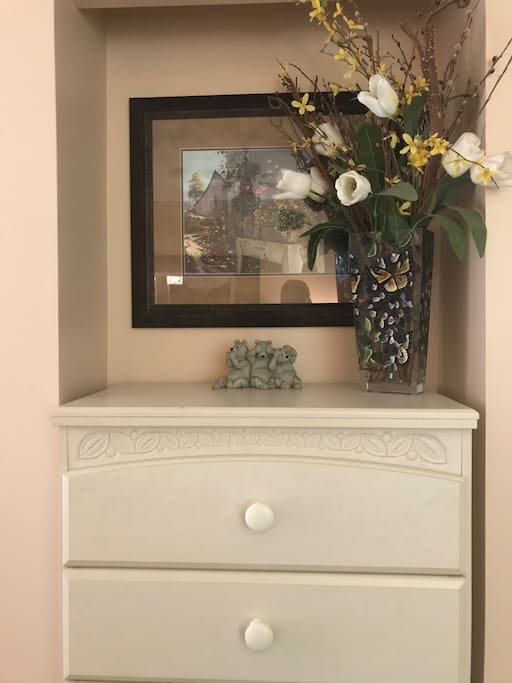 Small dresser in bedroom