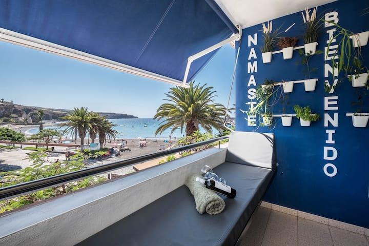 "Beautiful Oceanfront Beach Apartment ""SPR Playa San Juan"" with Terrace & Wi-Fi, Parking Available"