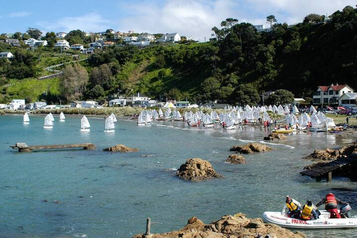 Sailing at Worser Bay