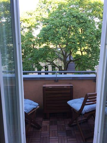 balcony with morning sun