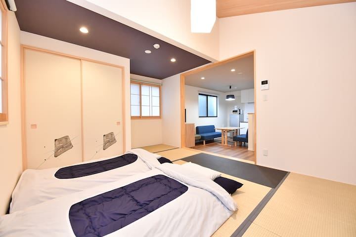 Nijo castle★spacious tatami house B