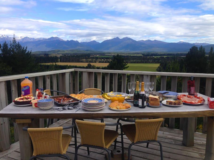 Dining with amazing panoramic views