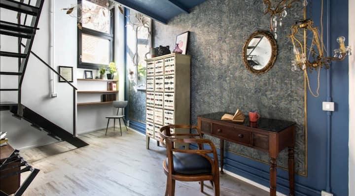 BBHOME Luxury LOFT Blue ROOM