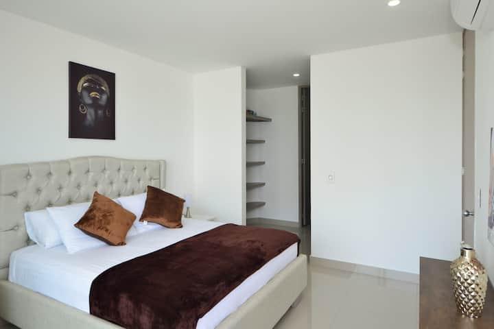 Apartamento nuevo, con vista al mar
