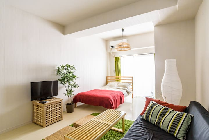 Bright and Colourful apt 4 min to Station/WiFi - Toshima-ku - Apartmen