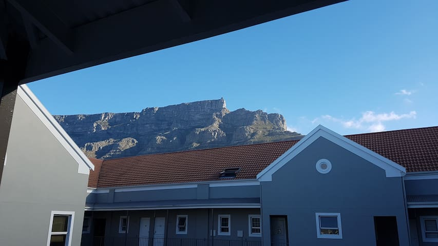 Table Mountain view from front door entrance