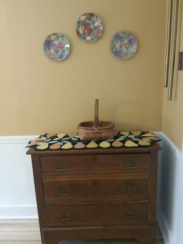 Antique bureau for storage of table linens