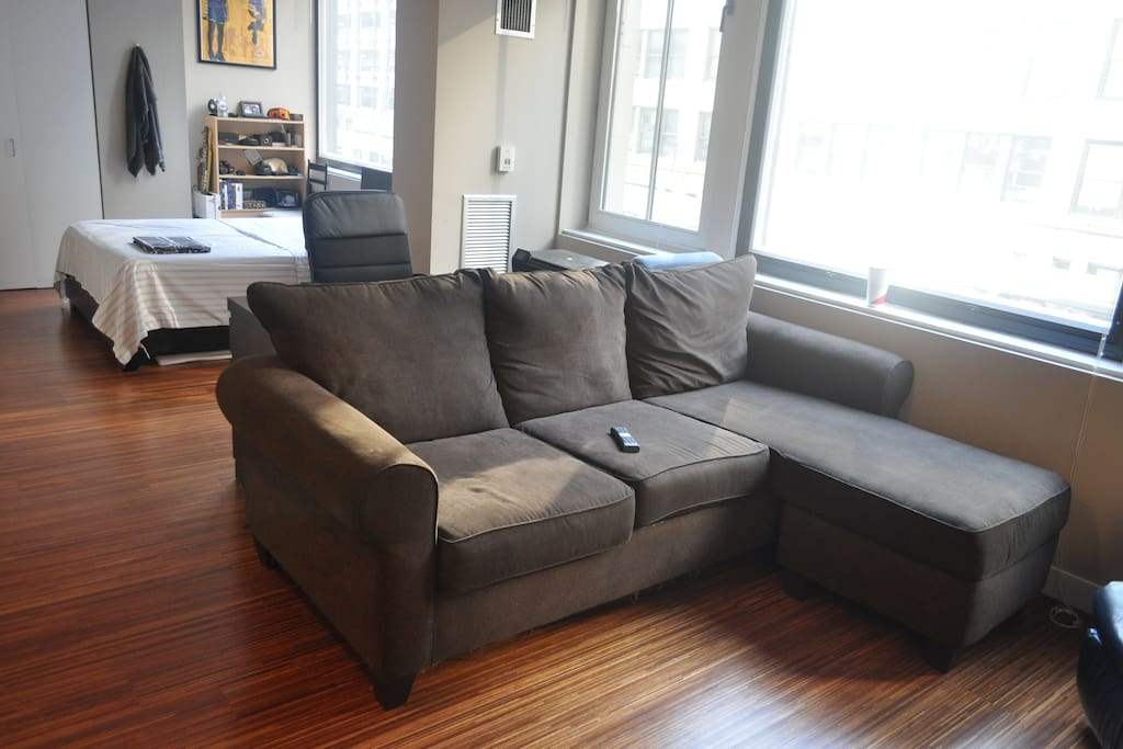 living area/sleeps 3rd person