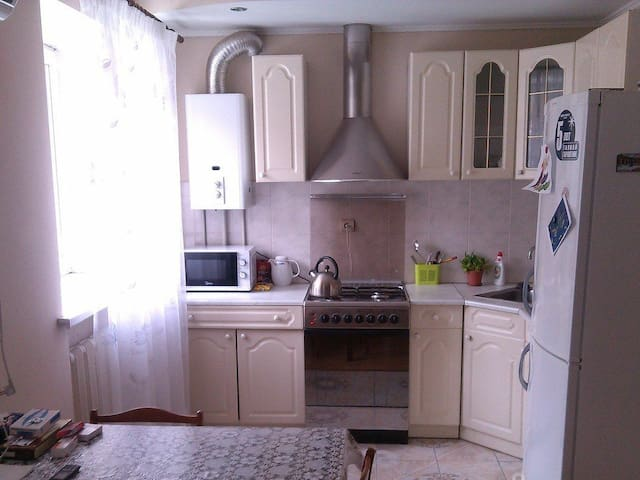 Apartment is located in the center of Samara city