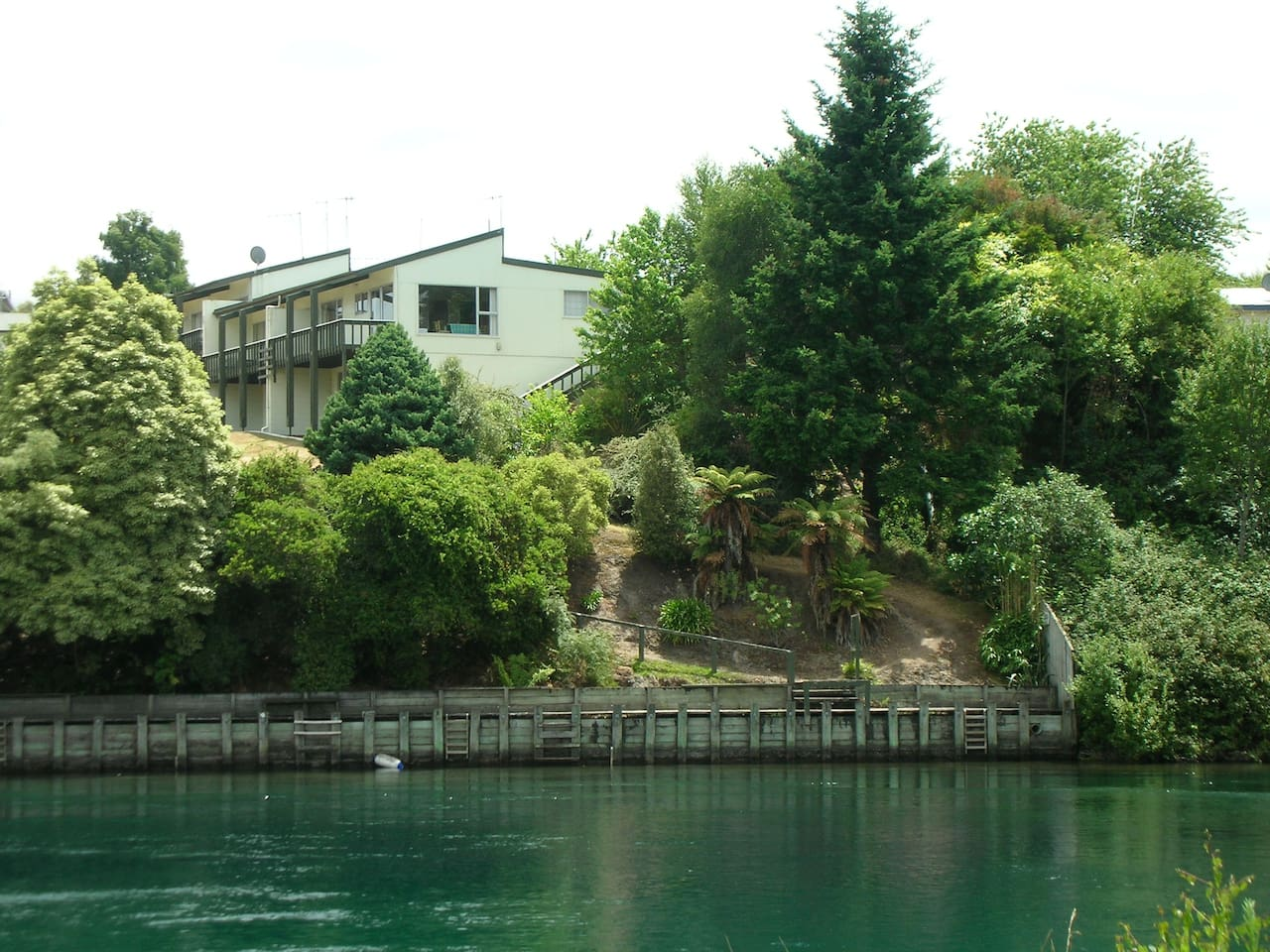View of Jetty from across river - apartment in photo is not ours
