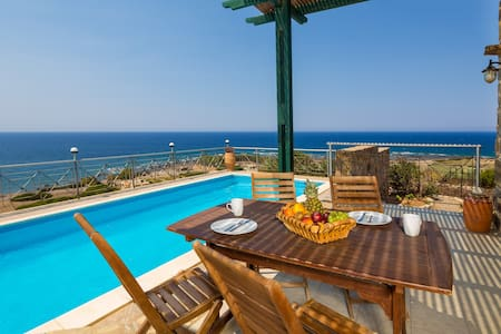 Peace & Tranquility at Sea Views Villa Elafonissi - Chania