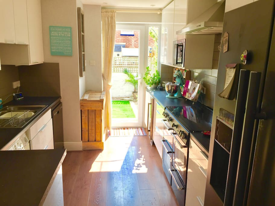 Kitchen. You will have full access to this and you're welcome to help yourself to toast, cereal, tea & coffee for breakfast.