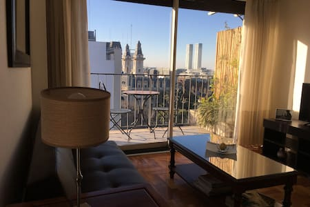 Spacious apt with great view of Puerto Madero