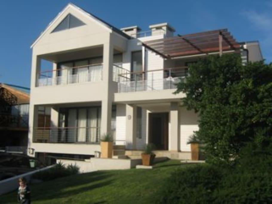 Large modern beach house