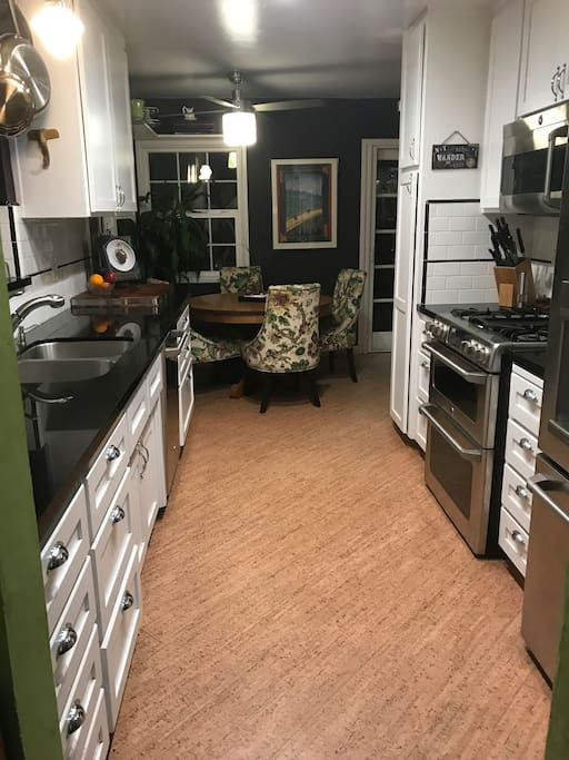 a gourmet kitchen with plenty of spices