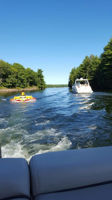 Paid boat rides / tubing . Check bookings with welcome centre