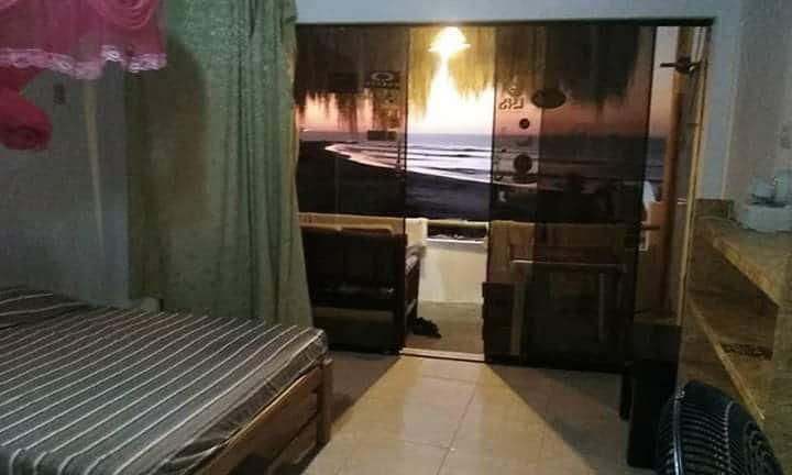 Habitación con vista al mar. 1era linea de playa