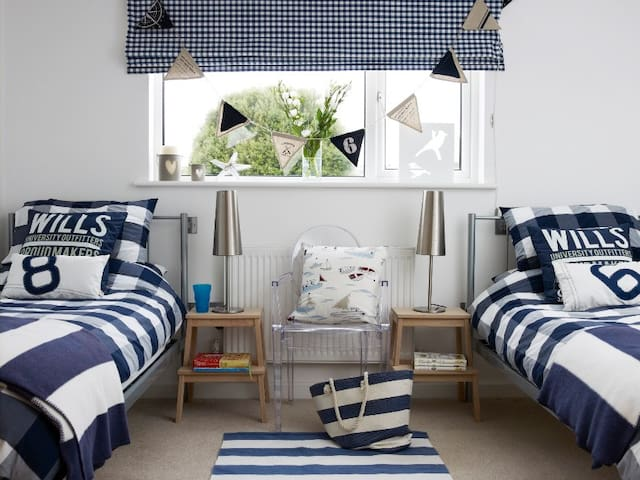 The twin room - great for kids. We tend to shut this room off but we are happy to offer it to you if you have children.