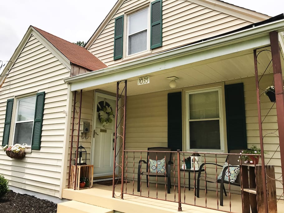 We have an older home in a historic Louisville neighborhood with modern decor and amenities.