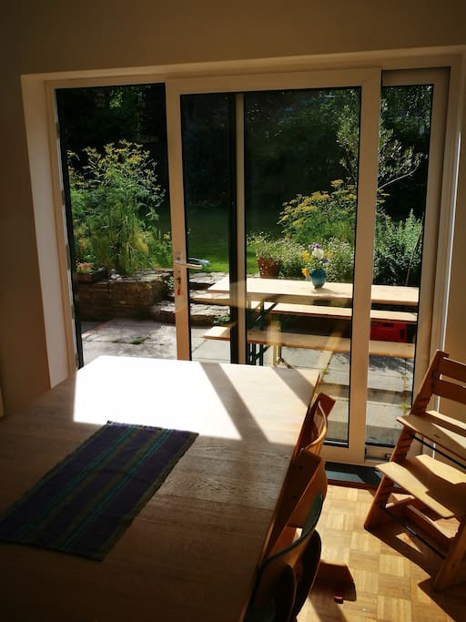Sunny west facing dining room