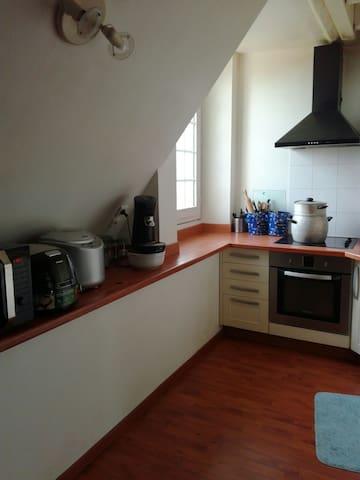 Notre cuisine, accessible à nos hôtes.